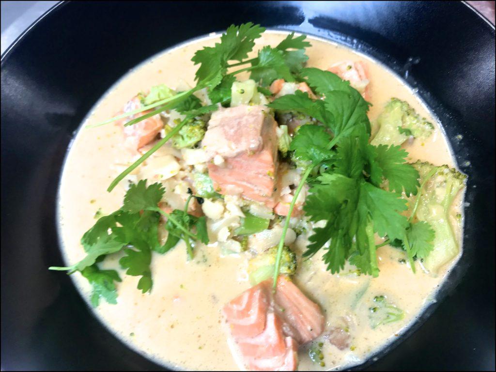 Thai curry suppe - keto