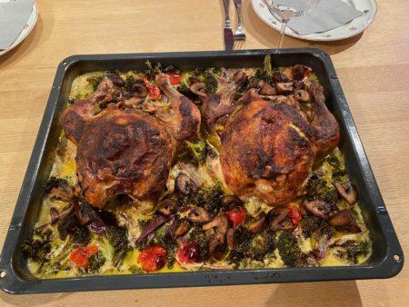 Helstekt kylling med urteskinn Vol 2